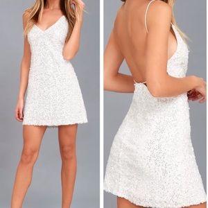 Lulu's Force Of Fashion White Dress
